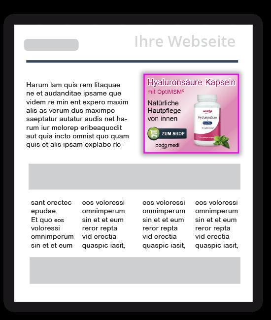 Affiliate Beispiel für Webseite